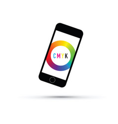Cmyk colour selector mobile phone vector
