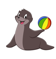 Cartoon sea lion vector