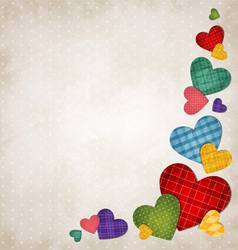 Colored hearts vector