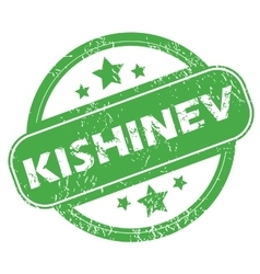 Kishinev green stamp vector