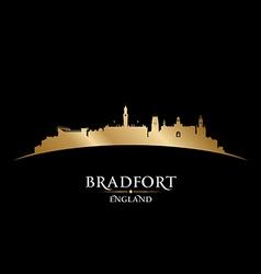 Bradfort England city skyline silhouette vector image