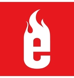 Fire e letter design vector