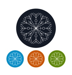 Icon of a snowflake happy new year vector