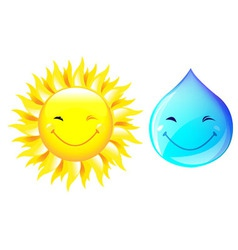 Smiling drop of water vector
