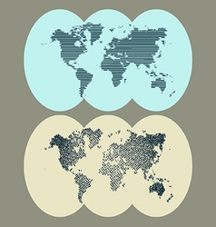 World of dots vector