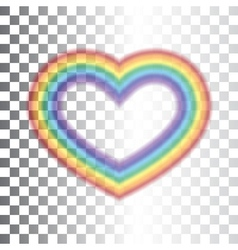 Rainbow icon heart transparent vector image