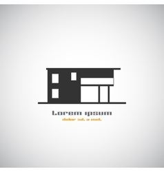 Abstract architecture building silhouette logo vector