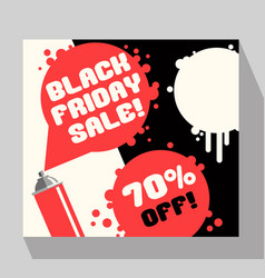 Black friday sale banner with spray paint vector