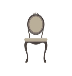 chair classic furniture icon set design retro vector image