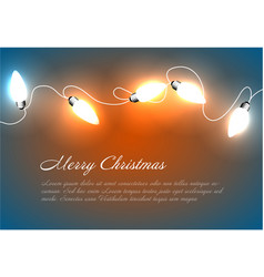 Christmas background with chain lights vector