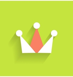 crown icon modern flat design vector image
