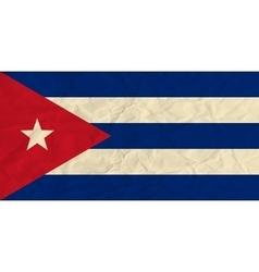Cuba paper flag vector image