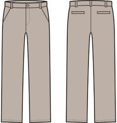 Down pants vector image vector image