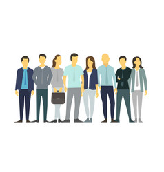 eight people in line group people vector image vector image