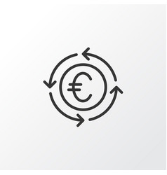 Euro exchange icon symbol premium quality vector