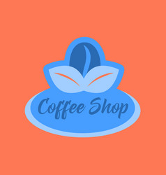 flat icon on background coffee shop logo vector image vector image