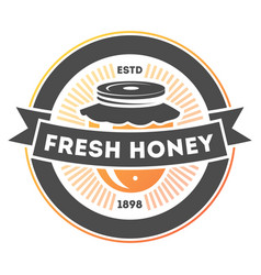 fresh honey vintage isolated label vector image vector image