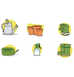 Gardening tools cartoon vector image