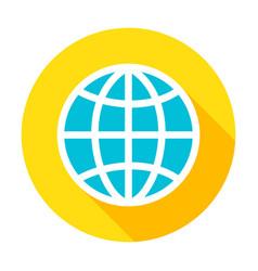 Globe flat circle icon vector