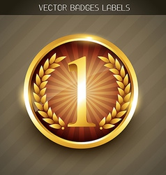 golden label tag vector image vector image