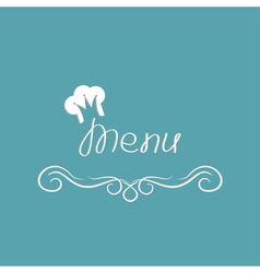 Menu cover design with chef hat in shape of crown vector image