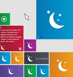 moon icon sign buttons Modern interface website vector image vector image