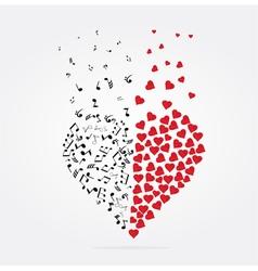 Note heart vector