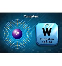 Periodic symbol and diagram of tungsten vector