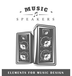 professional music speaker vector image vector image