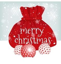 Santa claus red bag vector