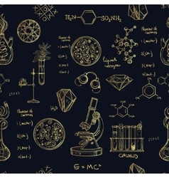 Science and education seamless pattern vector image