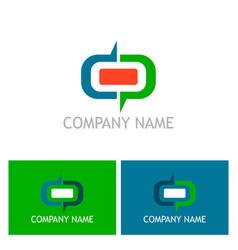 shape round company logo vector image vector image