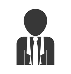 Silhouette of businessman icon vector