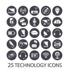 Technology icons set vector image vector image