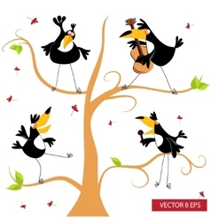 Toucan on a tree vector