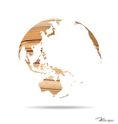 Wooden world vector image