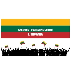 Cheering or protesting crowd lithuania vector
