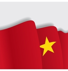 Vietnamese waving flag vector