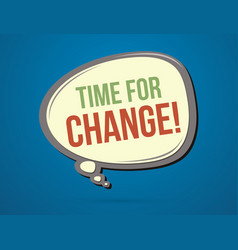 Time for change text in balloons vector