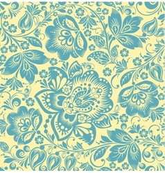 turquoise floral seamless pattern vector image