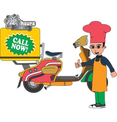 Delivery pizza vector