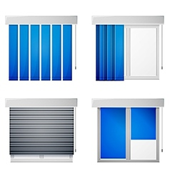 Icons for window louvers vector