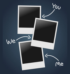 Empty photos template vector