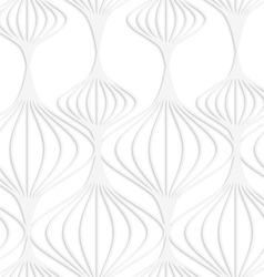 Paper white striped chinese lanterns vector