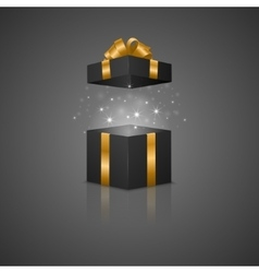 Gift box with a magic effect vector