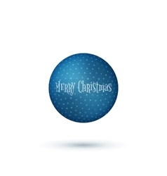 Realistic christmas blue ball with shadows vector