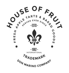 Vintage logo house of fruit company vector