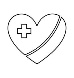 Healthy heart symbol isolated icon design vector