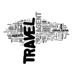 Agent tricks of the travel trade text word cloud vector