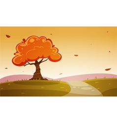 Autumn Cartoon Landscape vector image